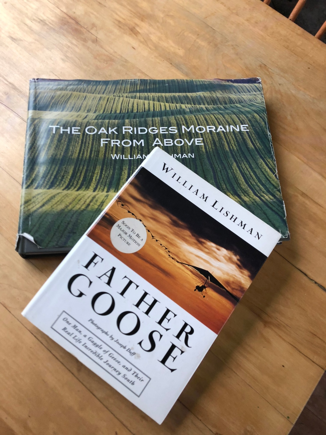 Coffee table books about Bill Lishman, aviation and the Oak Ridges Moraine