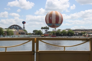 Gorgeous view of Downtown Disney from our riverboat.