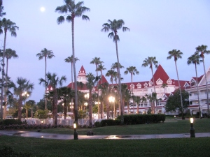 The Grand Floridian at dusk
