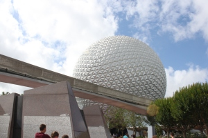 The great golf ball in the sky, also known as Spaceship Earth.